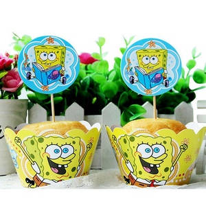 Sponge bob Cartoon cake cup cupcake toppers