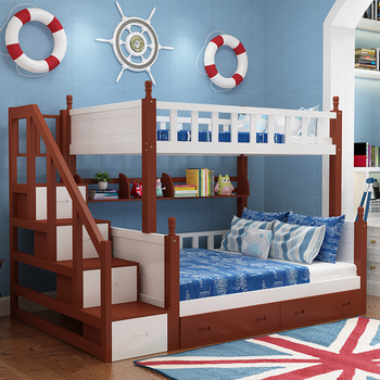 Wholesale Bunk Beds For Kids,latest Kids Triple Wooden Bed Bunk Slide,sweet  Kids