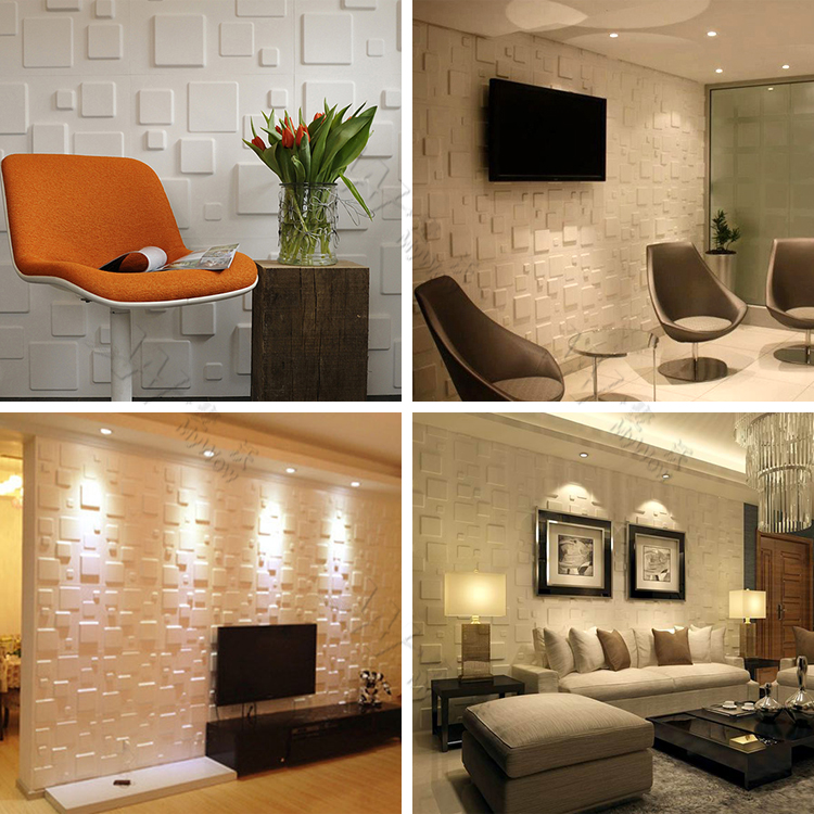 Pvc Wall Design Images : Living room tv background pvc ceiling interior acoustic