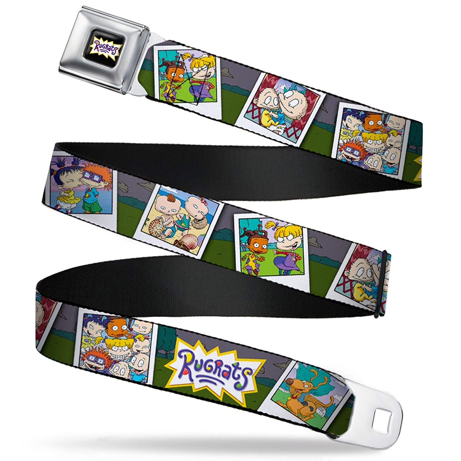 "Buckle-Down Seatbelt Belt - RUGRATS Character Snapshots - 1.0"" Wide - 20-36 Inches in Length"