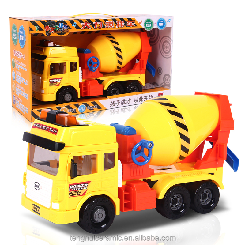 yellow color Kids Toys is mixed Construction Vehicle