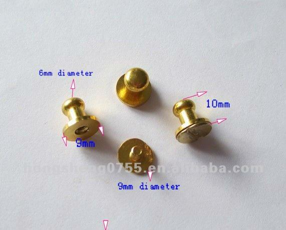 High quality Gold brass screw button stud for leather | solid brass stud