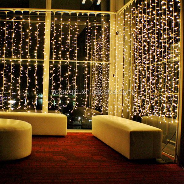 Wedding lighting decor home decor led fairy light curtain for Room decor led lights