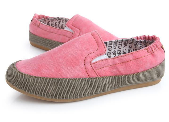 c2bee6abf Get Quotations · Canvas Women Shoes Breathable Size 35-40 Women Flats Lazy Shoes  Woman Espadrilles Round Toe
