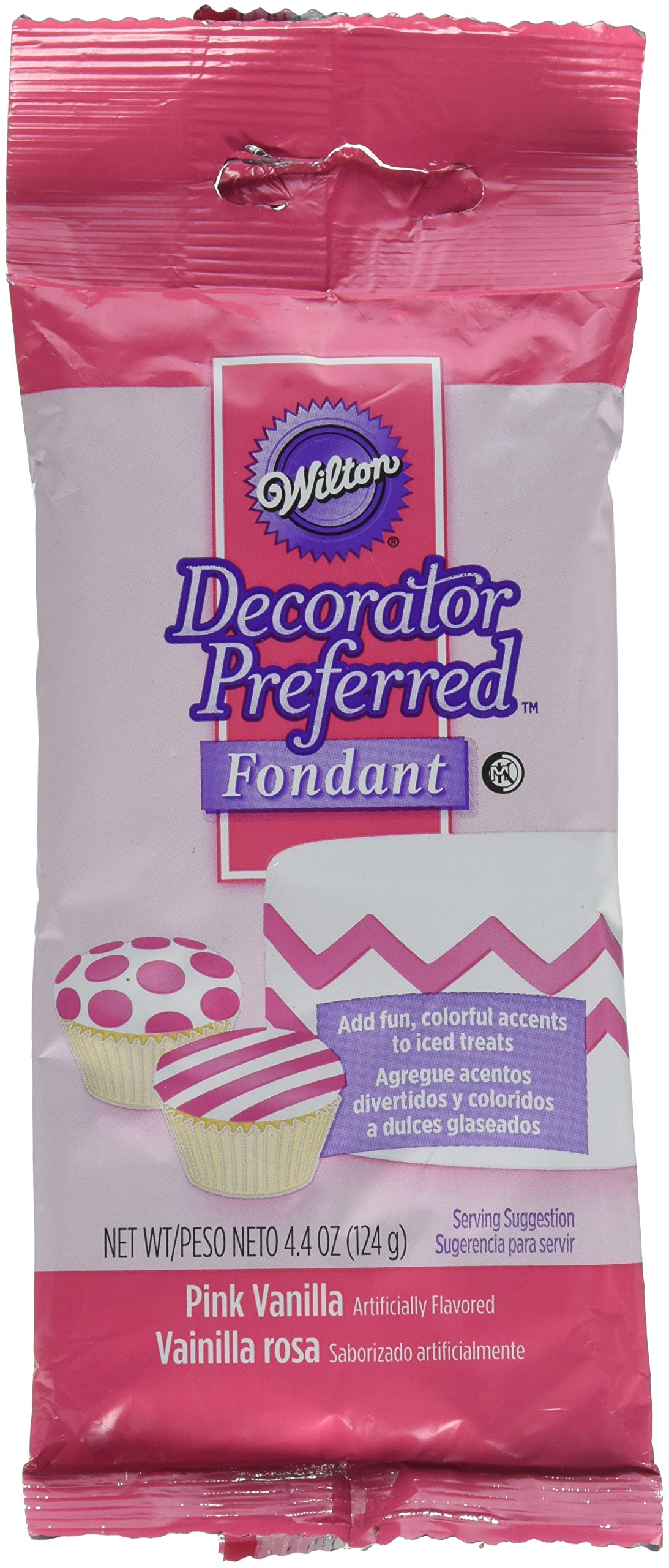 Wilton 710-390 4.4 oz Pink Decorator Preferred Fondant Pack
