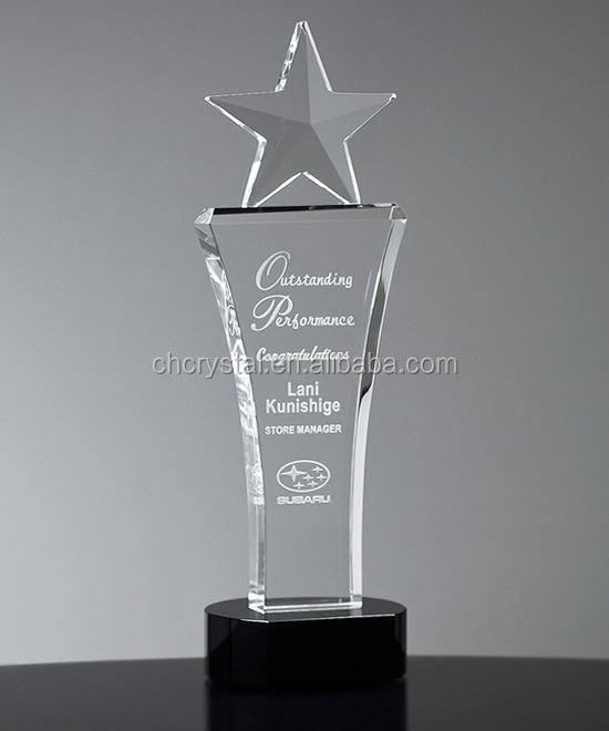 MH-NJ00452 Beveled Crystal Star Tower crystal trophy