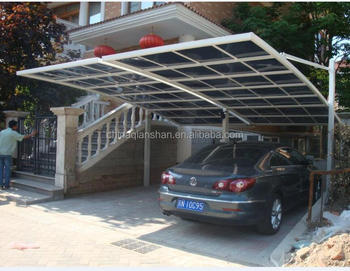 curved roof design white colour aluminium carports with polycarbonate sheet cover