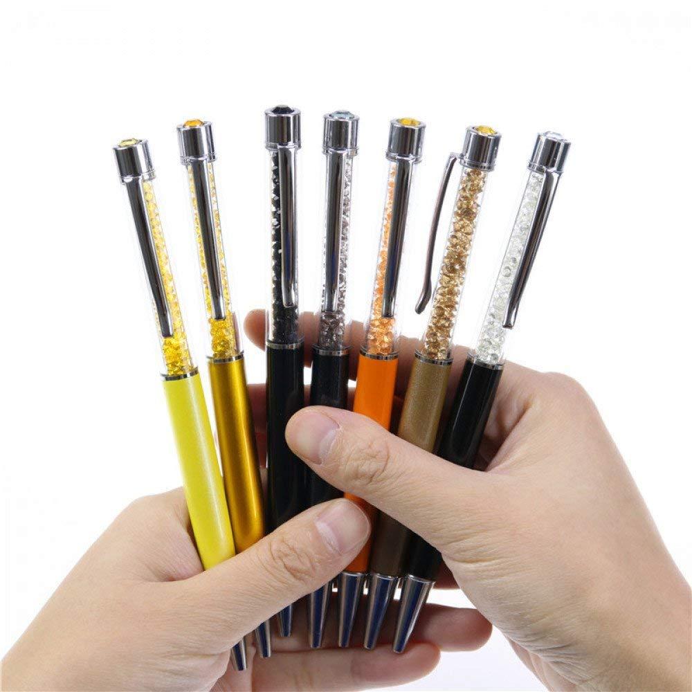 GMYANYZB Ballpoint pen 5pcs/set Creative Crystal Pen Diamond Ballpoint Pens Stationery Ballpen Stylus Pen 7 Colors Oily Black Refill 0.7 mm