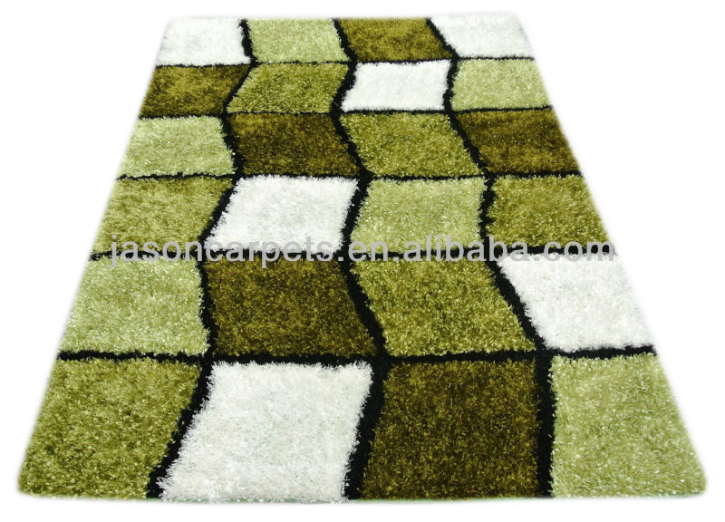 Design moderno soggiorno shaggy verde tappeto-Tappeto-Id ...