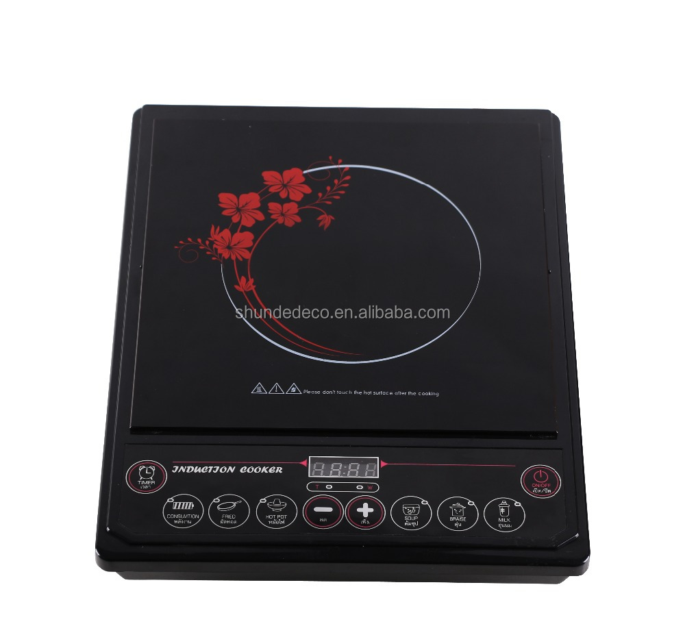 Professional supply Black Crystal Glass solar induction cooker made in China