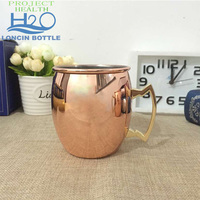Drums 18OZ Stainless Steel Moscow Mule Mug With Sublimation,Copper Plated Mug Cup With Handle