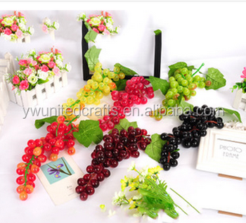 Cheap artificial fruit small fake grapes cluster with 16cm for Buy grape vines for crafts