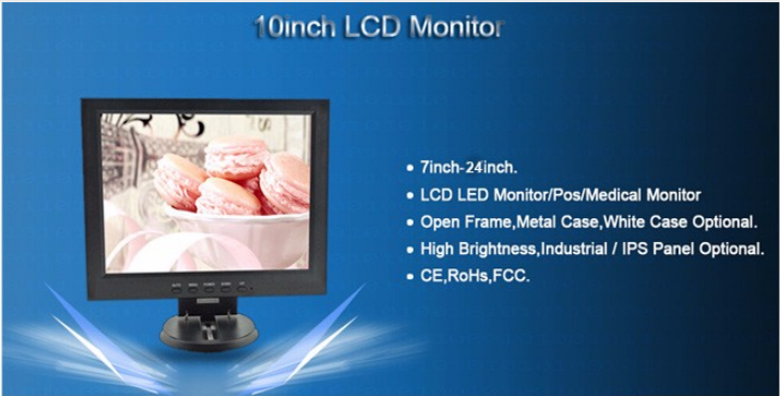 monitor/touch screen monitor/10 inch open frame monitor/resistive touch screen monitor/capacitive touch screen monitor