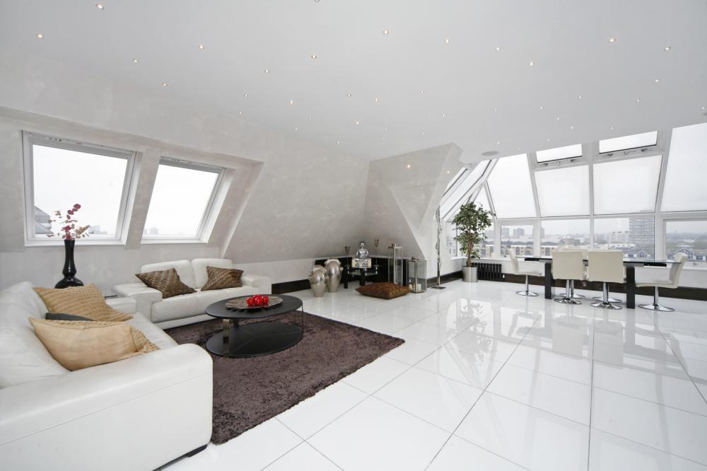 Fashion house interior design crystal white nano glass - White flooring ideas for living room ...