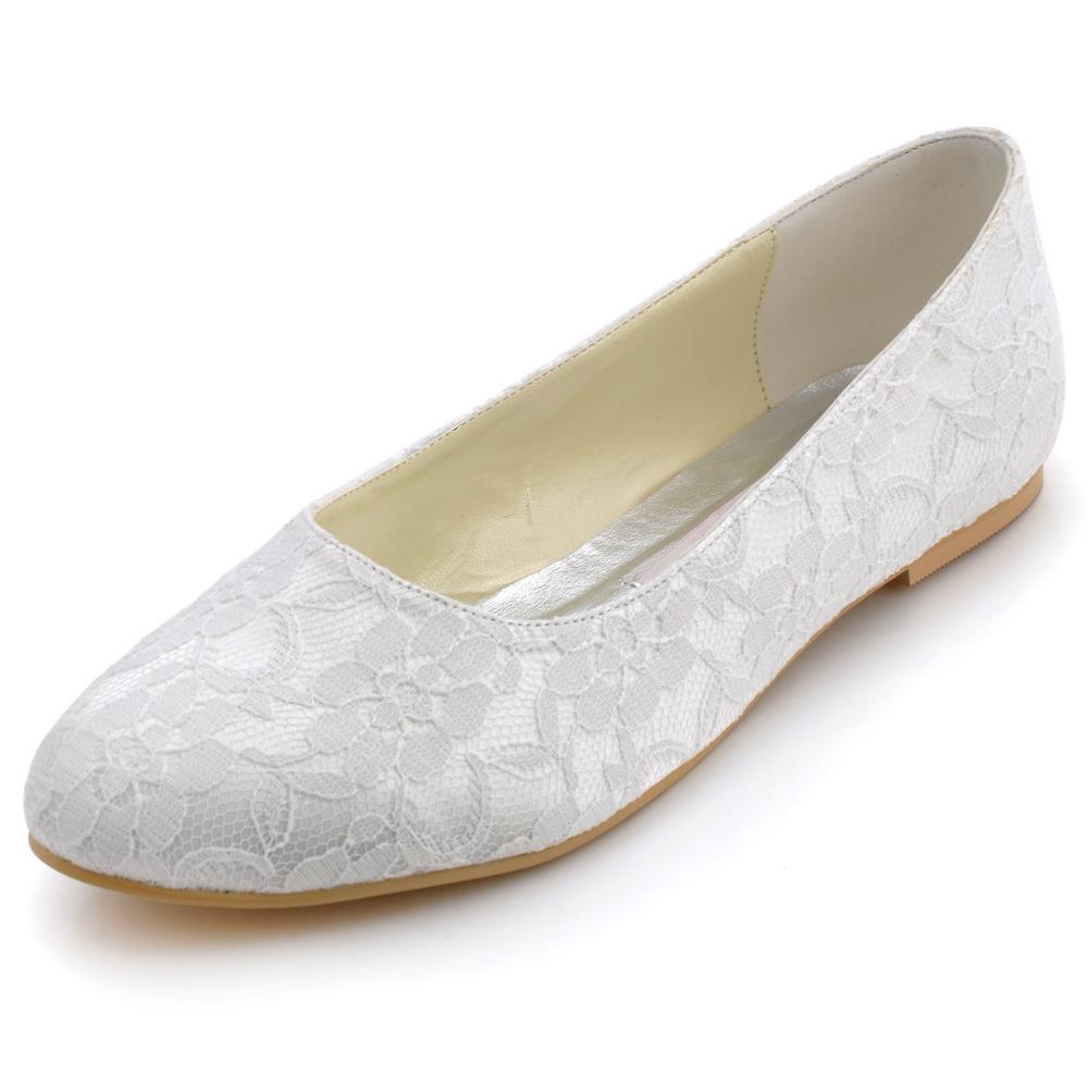 Flat Beige Wedding Shoes