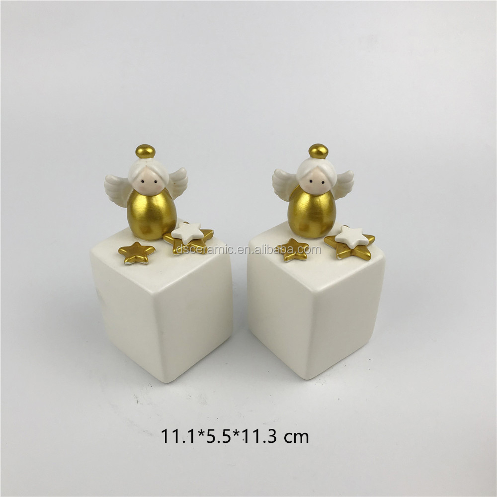 mini christmas angel cute ceramic salt and pepper shakers herbs & spice tools