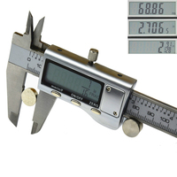 "6"" FRACTIONAL READOUT LARGE DISPLAY METRIC, INCH, FRACTIONAL DIGITAL ELECTRONIC CALIPER"