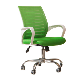 Green back and seat color fixed armrest wheel chairs for office chair use