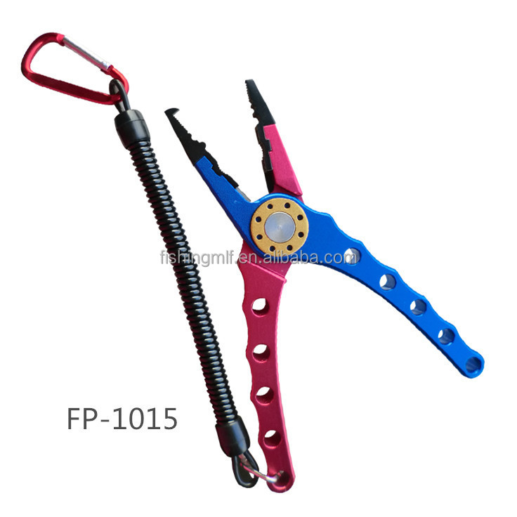 FP1015 Wholesale Double Color Multifunction Aluminum Fishing Pliers