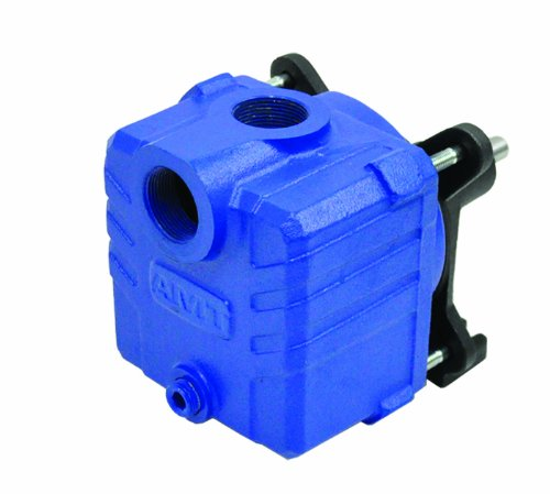 "AMT 2850-99 1.25"" Cast Iron Self-Priming Centrifugal Pedestal Pump, 75psi, Buna-N Seal, 1hp Minimum"