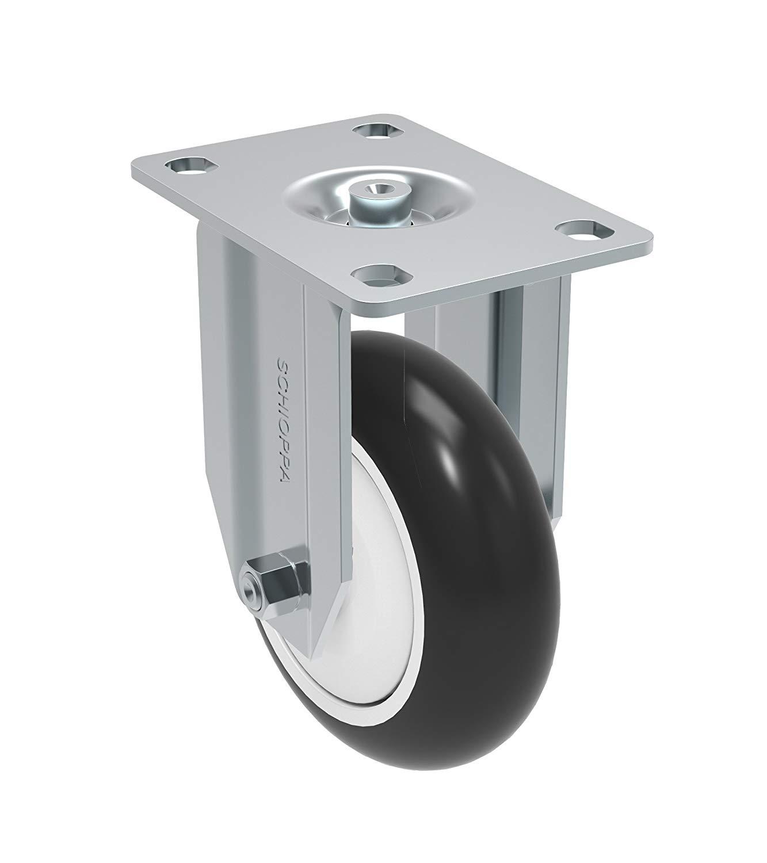 Non-Marking Polypropylene Precision Ball Bearing Wheel Bolt Holes 3 x 1-3//4 Bolt Holes 3 x 1-3//4 220 lb Plate 3-3//4 x 2-1//2 Schioppa GLA 412 NPPE L12 Series 4 x 1-1//4 Diameter Swivel Caster Plate 3-3//4 x 2-1//2