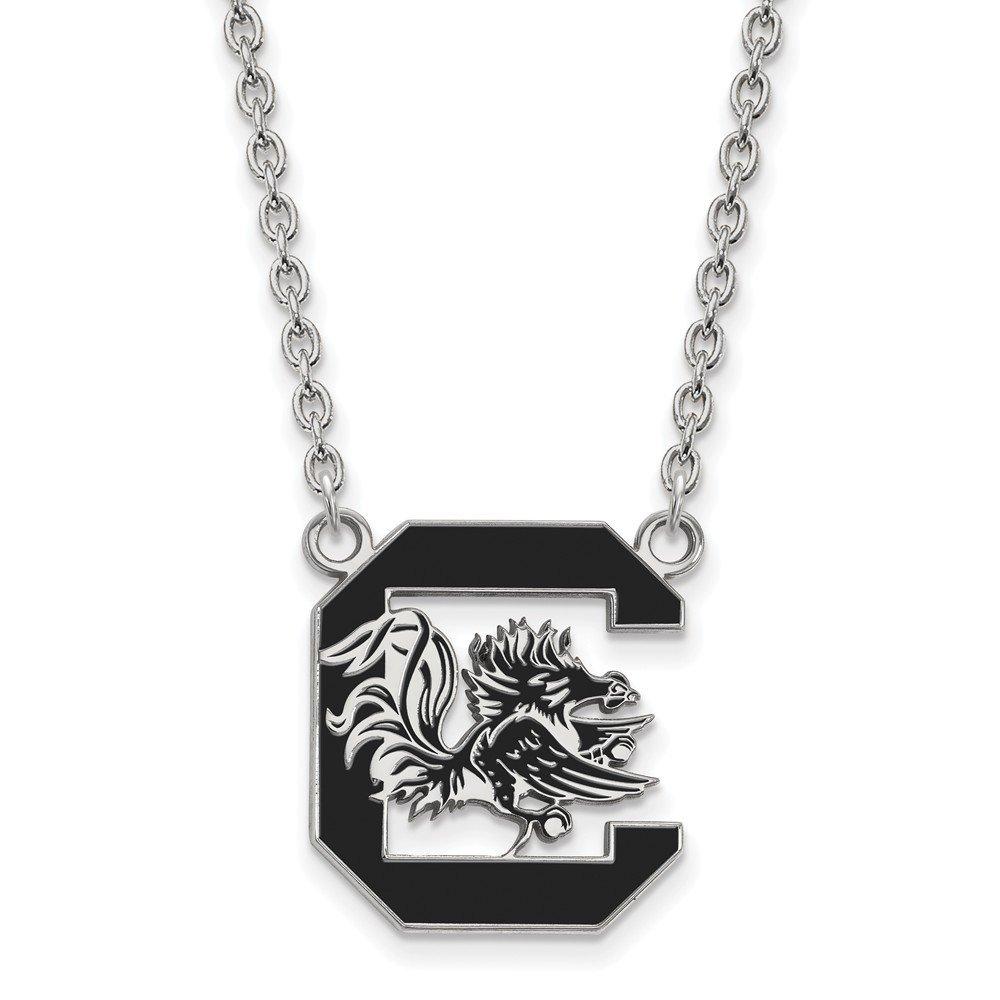 University of South Carolina Gamecocks Sterling Silver Pendant Necklace 5.59 gr
