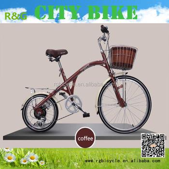 16/24 Size Steel Frame Big U0026 Small Wheel Fishing Style City Bike