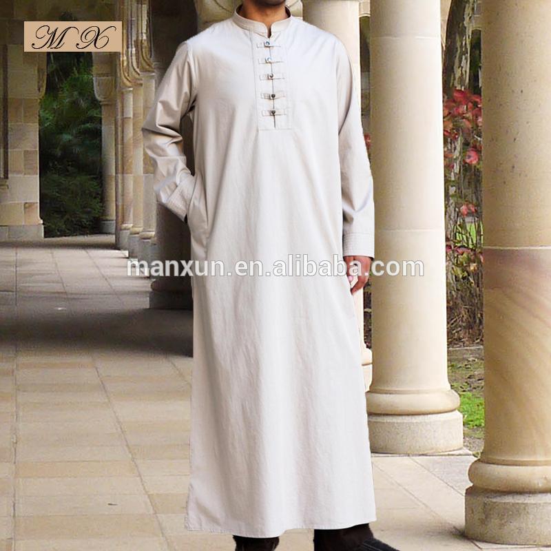 New Fashion Saudi Style High Quality Arab Thobe For Man 2015