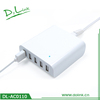 40 Watt 5 Port USB Desktop Rapid Charger. Multiport USB Travel Charger
