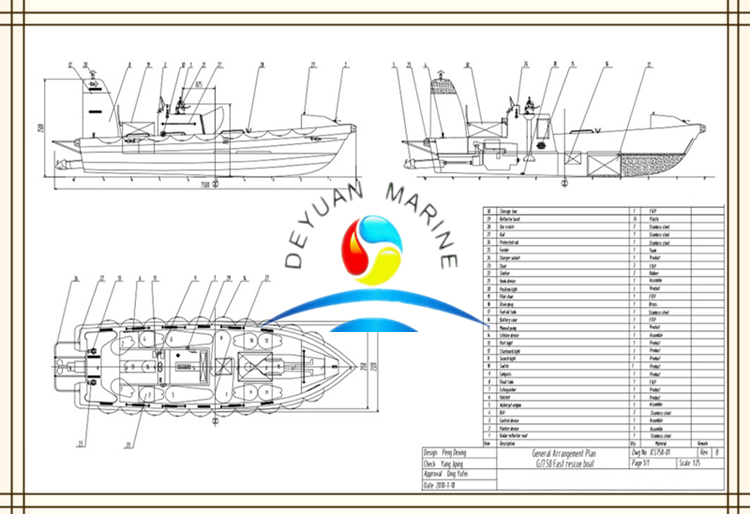 Hot Selling Frp Work Boat Fiberglass Lifeboat Enclosed Lifeboat ...