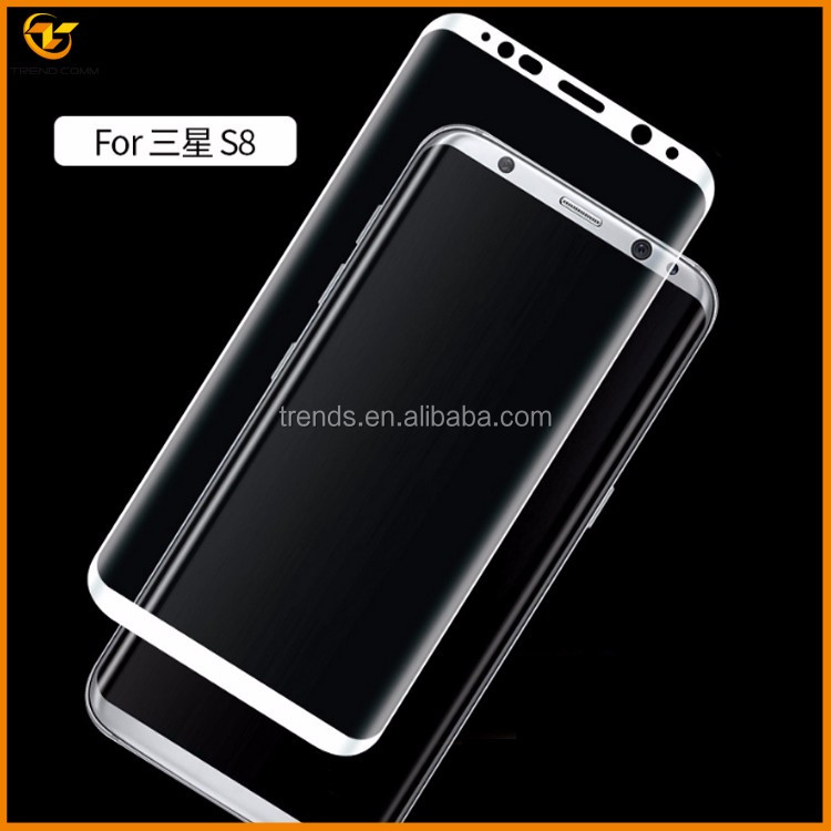 new products 2017 curved glass for galaxy s8 tempered glass screen protector