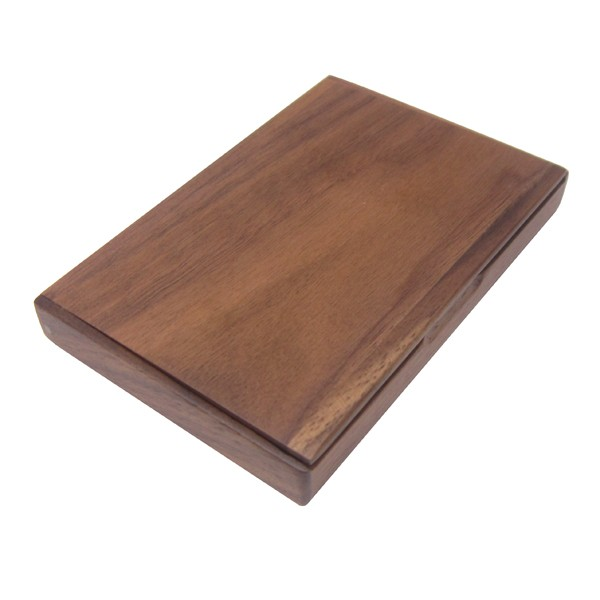 OEM Customized Business Card Holder Wooden Flip Card Case