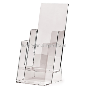 A4 A5 clear acrylic 10 Pocket Magazine Catalogue Brochure Holder for wall mount display