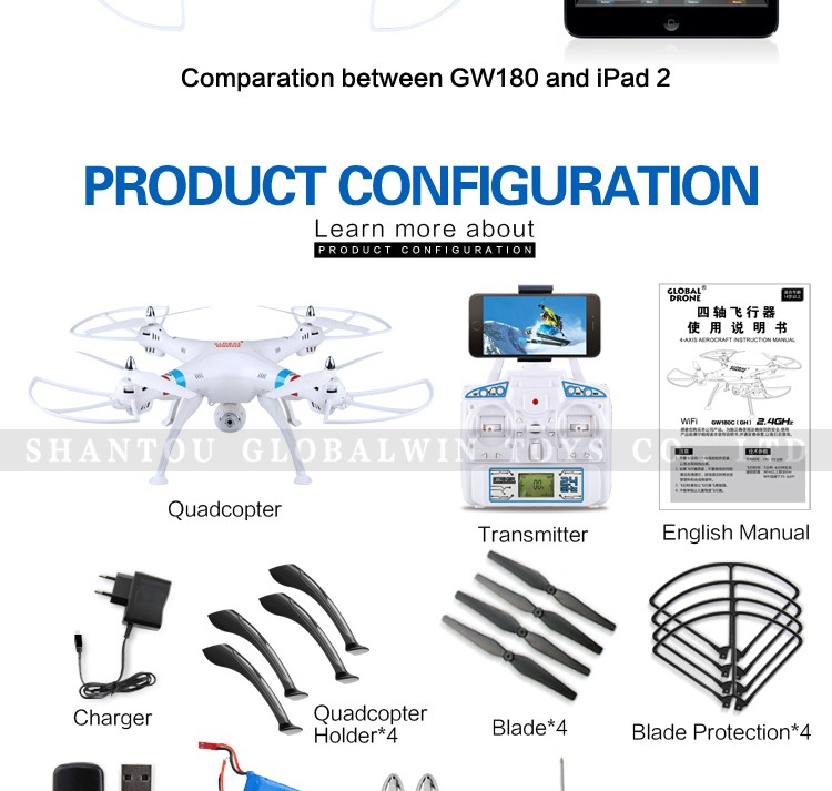 Global Drone Gw180 2 4g 6axis Gyro Rc Dron With Camera For Option,Sky King  Large Drone Helicopter With Drone Patent 2016 - Buy Sky King Drone,Sky King