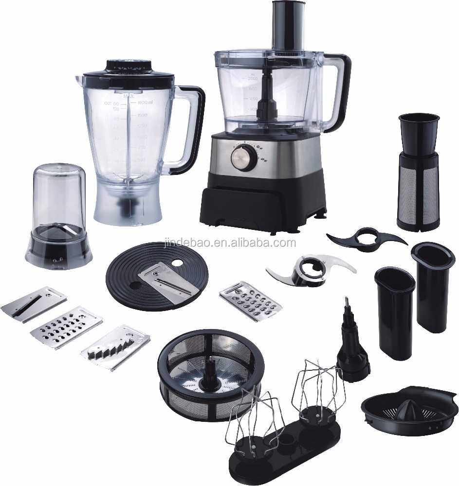 800W 13 in 1 Multifunction Food Processor with unique drawer design