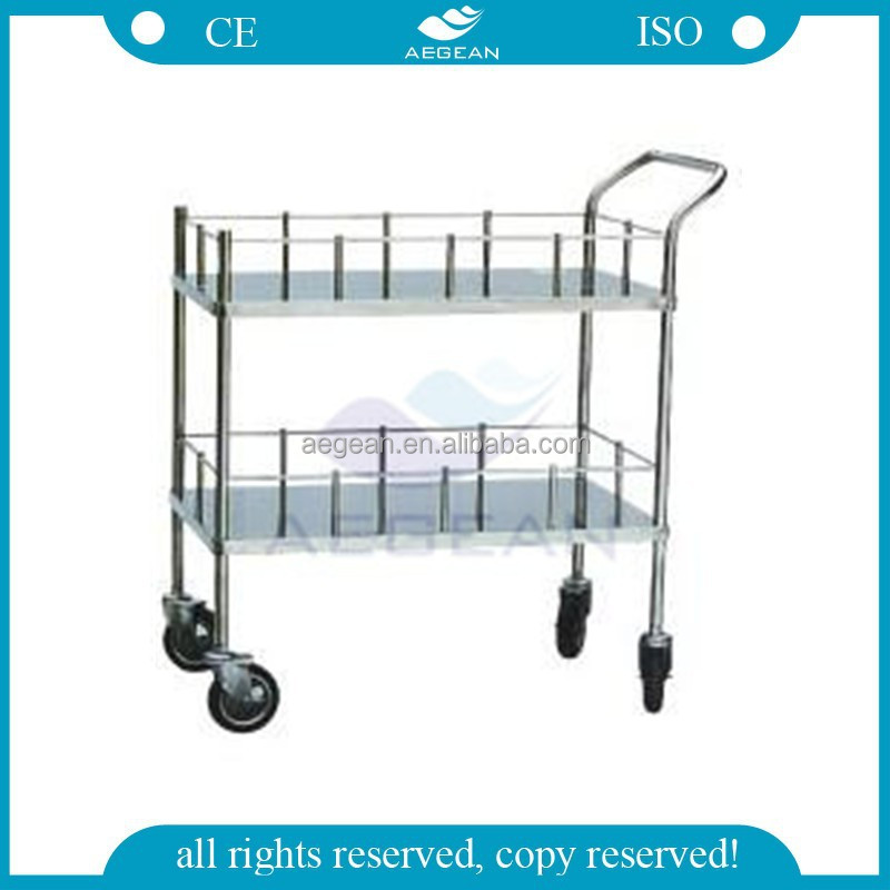AG-SS006 Hospital Stainless Steel Water Bottle Trolley