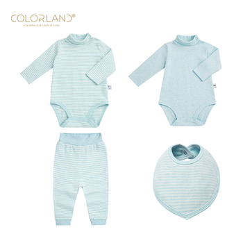 COLORLAND 100% organic cotton baby clothing muslin newborn baby suit clothes
