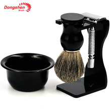 Dongshen plastic bowl shaving set,cheap men wet shave kit