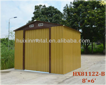 New Gable Roof Style Outdoor Imitating Wood Used Storage