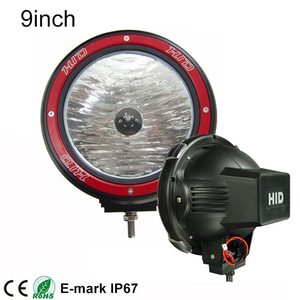 "Waterproof 9"" 55W 100w hid spotlight 12v HID Driving lights"