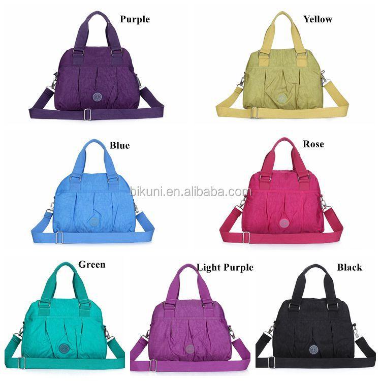 42cc6997bd76 Plain Design Wash Wrinkle Fabric Handbags For Women Beach Bag - Buy ...