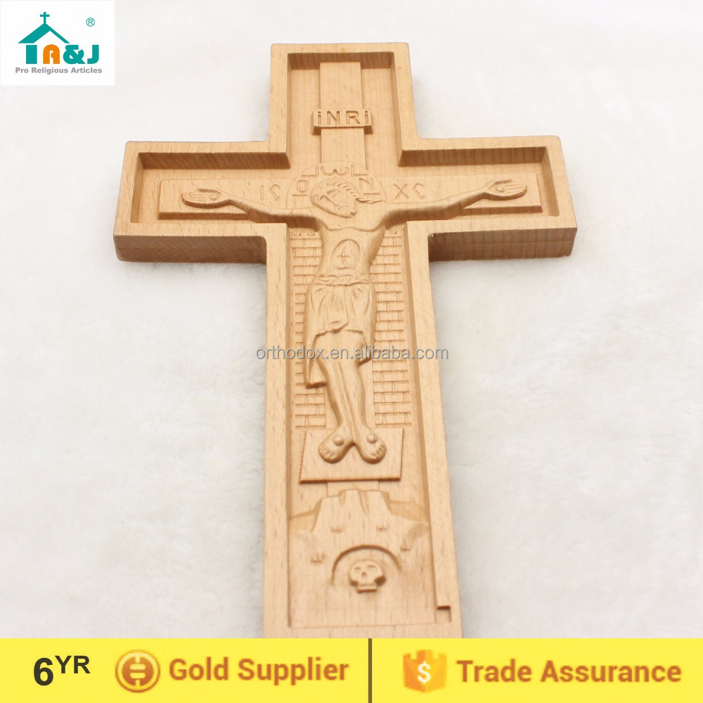 Wooden Crucifix Crosses Wall Decoration Items - Buy Wall Decoration ...