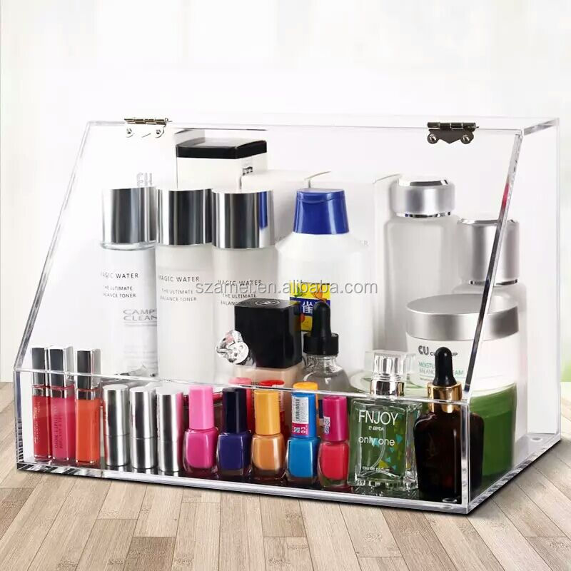 2017 Large clear acrylic mac makeup organizer/ cosmetic tray