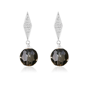 92875-promtotion price high end black color crystals from Swarovski fancy stud earring crystal for women accessories