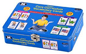 Core Curriculum Vocabulary Cards Level One (First Grade Words) - Super Duper Educational Learning Toy for Kids