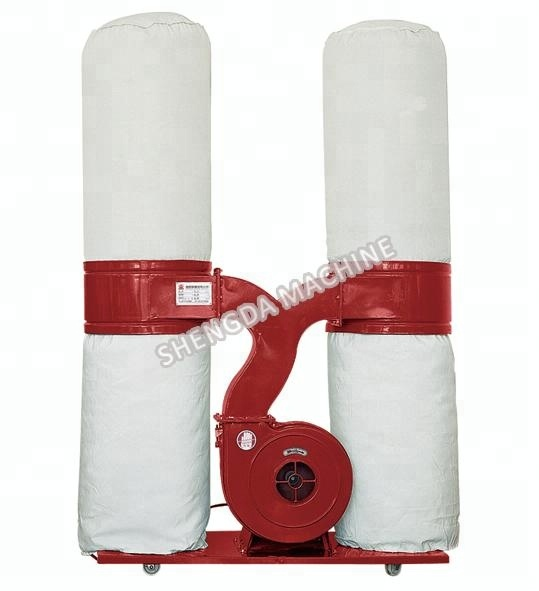 Double pipe wood industrial cyclone separator dust collector machine price