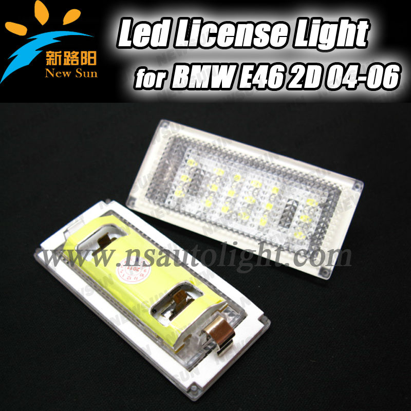 LED Error Free Number License Plate Light E46 03-06 2D Coupe/ Convertible For BMW, 18 SMD rear license lamp