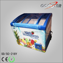 Luxury CE approved ice cream display showcase arch chest freezer