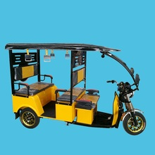 3 Wheel Electric Tricycle Passenger with Closed Cabin Bajaj Rickshaw 48V 1000W e Assisted Trike