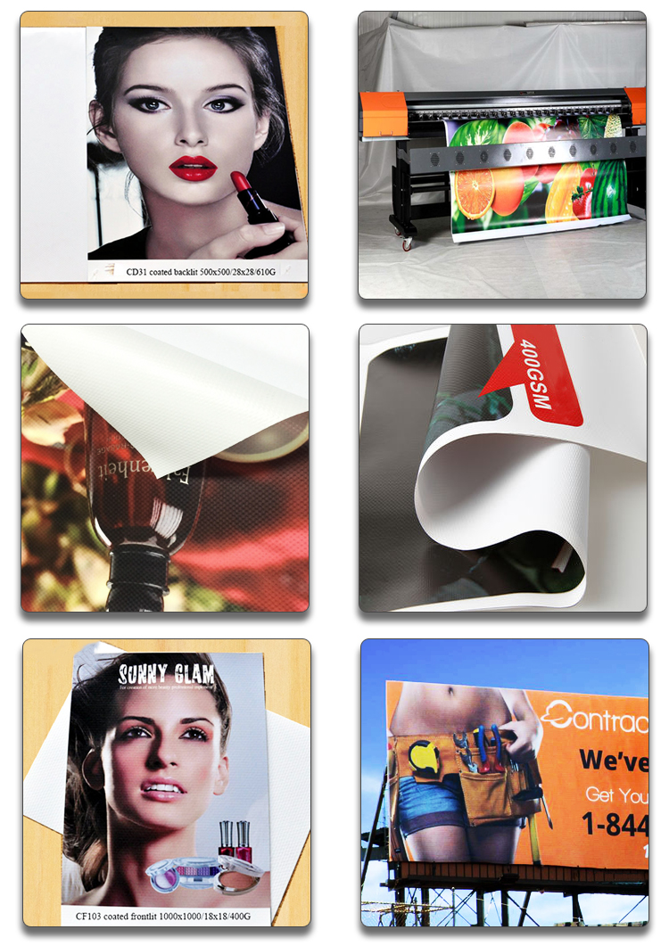 coated knife block PVC banner decal hot stamping printing materials flex banner